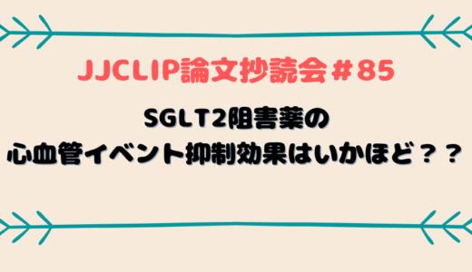 #85 SGLT2阻害薬の心血管イベント抑制効果はいかほど?